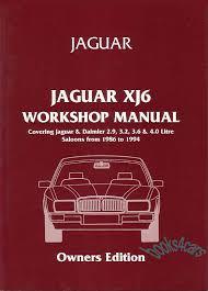jaguar manuals at books4cars com 88 94 xj6 shop service repair manual by jaguar of 190 pages 280 illustrations large foldout wiring diagrams xj40 91 b j40wh