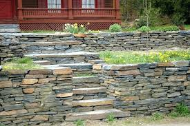 how to build a stone retaining wall without mortar rock retaining wall and steps build stone