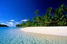 Blue Sky Seashore Hd Wallpaper Download