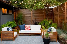 patio string lighting ideas. Modern Seattle Courtyard. A Cozy Outdoor Seating Area Is Illuminated By LED String Patio Lighting Ideas L