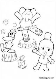 Print Out Coloring Pages Pocoyo Pato And Elly Play Surkres