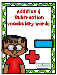 Addition And Subtraction Key Words Anchor Chart Addition Words Anchor Chart Worksheets Teaching Resources