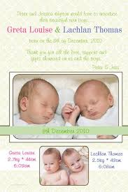 twin birth announcements photo cards twin birth announcement photo cards with pale yellow pastel background