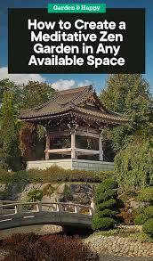 how to create a meditative zen garden