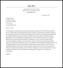Professional Personal Care Assistant Cover Letter Sample