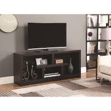 701039 macy transitional tv stand with open shelves bana home