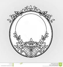 black filigree vector stock ilration filigree line art vector frames eastern style frame ornate element