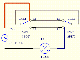 two way light switch wiring 2 way lighting circuit wiring diagram 2 Way Lighting Diagram Wiring #41