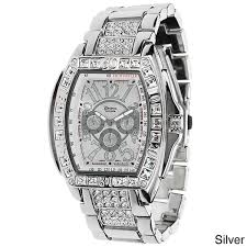 geneva platinum men s rhinestone accent link watch shipping geneva platinum men s rhinestone accent link watch