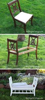 repurpose old furniture. French Styled Bench From Broken Chairs Repurpose Old Furniture
