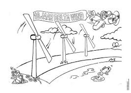 Coloring Page Wind Energy Windmill The Giraffe That Walked To