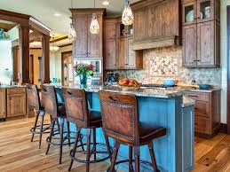 ... Kitchen Design, Breathtaking Blue Rectangle Rustic Wooden Mid Size Kitchen  Design Stained Ideas: Mid ...