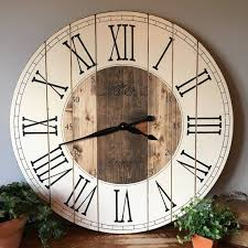 large rustic wall clock with regard to 32 inch farmhouse unique prepare 11