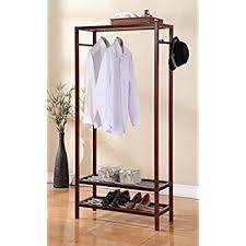 Shoe Rack And Coat Hanger Amazon Legacy Decor Wooden 100 Tier Shoe Shelves Garment Rack 6