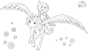 Mia And Me Coloring Pages Getcoloringpagescom