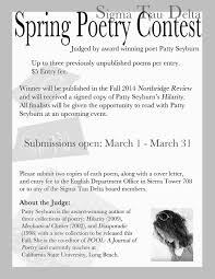 patty seyburn poetry contest flyer cover letter for poetry submission