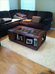 crate coffee table decor inspiration wooden