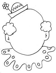 Small Picture Clown Coloring Pages Circus clown face coloring sheet kids