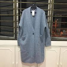 uniqlo women melange wool long sleeve coat women s fashion clothes outerwear on carou