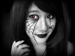 spider web makeup by terra tower