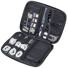 Smart Electronics Organizer Travel Case for Cable, Cord, Adapter, External  Battery, Car
