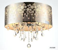 drum ceiling light modern led re crystal chandelier drum crystal ceiling lamp fixture lighting dining room drum ceiling