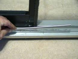 how to remove sliding screen door sliding screen door track repair kit repair sliding screen door