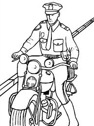 Small Picture Police Officer Riding a Motorcycle Coloring Page NetArt