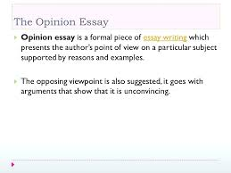 Opinion Essay Samples Opinion Essay Template