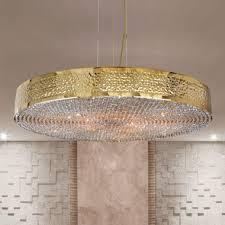 modern gold plated italian designer crystal chandelier