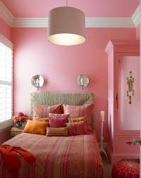 Luxury Girls Bedroom Decoration With Pink Color Schemes Ideas And Modern  Pendant Light Above Best Bed Decorating