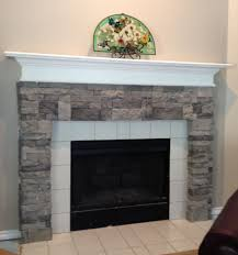 air stone at turns a builder grade fireplace into stone