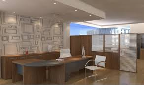 interior of office. Interior Design Of Office With Simple Screens