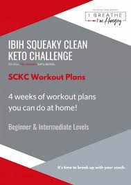 squeaky clean keto challenge workout