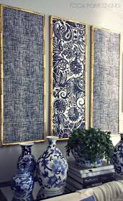 FOCAL POINT STYLING: DIY Indigo Wall Art With Framed Fabric - something  like this above Gladie?
