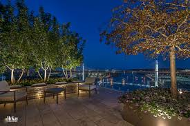 rooftop lighting. see more photos of the landscape lighting design for this relaxing rooftop garden patio located in