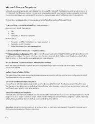 Microsoft Word 2010 Resume Template Examples Resume New Free Resume