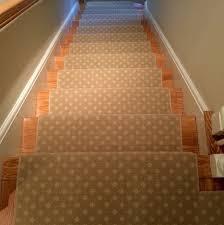 beige small geometric stair runner