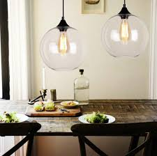 Glass Pendant Kitchen Lights Vintage Industrial Globe Glass Pendant Light Ceiling Lamp Shade