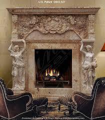 grand antique marble mantel