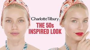 alice rley 50 s inspired makeup tutorial charlotte tilbury