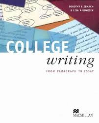 css essay books college writing from paragraph to essay by lisa a rumisek