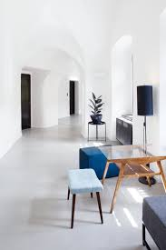 historic modern wood furniture. Mid-century Modern Furniture Pieces With Blue Pastel Upholstery And Warm Wood Tones Accent The Historic