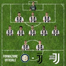 Inter-Juve, formazione ufficiale Juventus