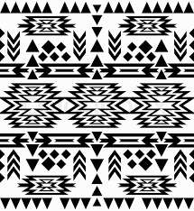 Navajo Pattern Interesting Seamless Black And White Navajo Pattern Vector Illustration Stock