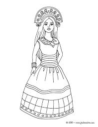 Coloriages Coloriage Princesse Indienne Fr Hellokids Com Coloriage Princesse Indienne L