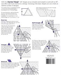 Clearview Triangle (60 Degree) Instructions | Quilting Ideas ... & Clearview Triangle 60 degree ruler make all 60 degree designs easy.  Includes markings for 120 degrees also. Great for any project with effects,  ... Adamdwight.com