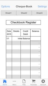 Check Register App Check Book Register