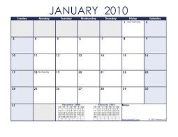2010 Calendar January 2010 Calendar 161
