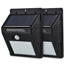 Led Zonne Energie Pir Bewegingssensor Wandlamp 20 Led Outdoor